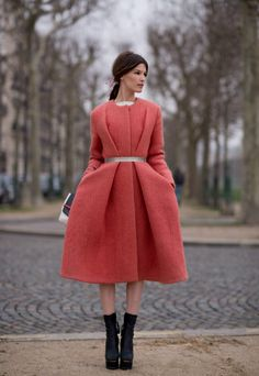 Hanneli Mustaparta in a to die for pink coat.