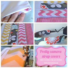 Pretty Camera Strap Covers — Sew Can She | Free Daily Sewing Tutorials