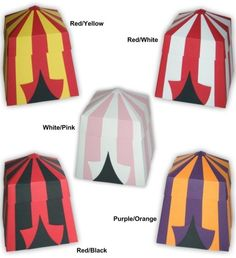 Printable circus tent gift box