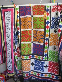 Pakistani quilt at Santa Fe International Craft Fair #socialgood #art