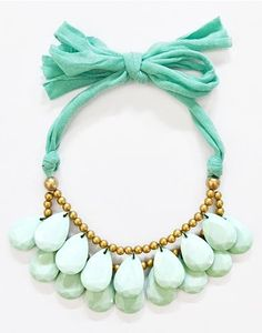 Mint statement necklace from Shamelessly Sparkly
