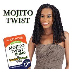 Model Model Synthetic Hair Mojito Twist Braid 12