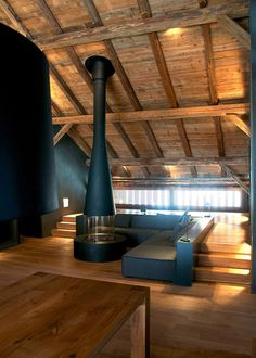 metal #fireplace #loft