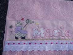 Toalha de Banho MARIA ISABEL (detalhe) by *Sonhos e Retalhos*, via Flickr
