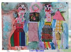 Beautiful Fabric and Watercolor Paintings! -Creative Play Central Blog