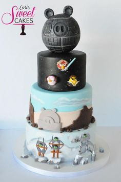 Angry Birds Star Wars Cake by Lori's Sweet Cakes