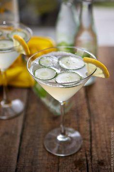 Cucumber Lemonade Spa Martinis
