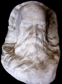 Tolstoy, Leo, graf, 1828-1910  death mask, on large pillow, by Mercouroff [Box 80]