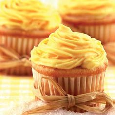 Apple Cider Cupcakes w/Apple Butter Filling and Caramel Frosting