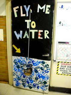 Door Decorating Contest. Charity Water Foundation!