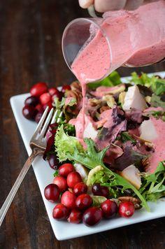 vinaigrett recip, bake or break recipies, cranberri vinaigrett, cranberry salad dressing, turkey salads, food, yummi, cranberries, vinaigrette
