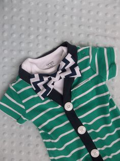 Cardigan Onesie Chevron Bowtie Easter Outfit  by groovyapplique, $31.00