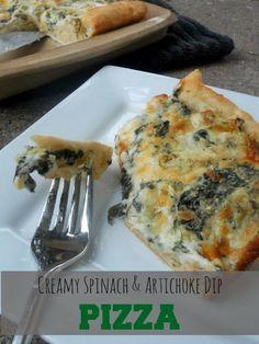 Creamy Spinach & Artichoke Dip Pizza