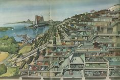 Futuristic Neatherlands, drawn 1970