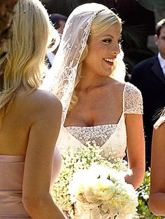 Tori Spelling. I loved her first wedding dress. Too bad the marriage didn't last.
