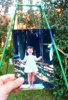 """""""Dear Photograph,  If only standing up onthe swing was the most rebellious thing you did…  Gee"""""""