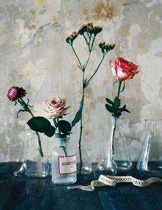 rich and romantic artists, rose, bottle packaging, glass, old jars, flower pots, design files, beauty, antiques
