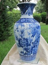 19th century Japanese Blue and White Imari Vase, Meiji Period(late 19th century)