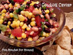 cook, juic, appet, food, easi dip, salsa, recip, snack, cowboy caviar