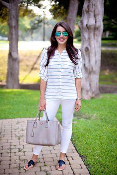 White Jeans | Dallas Wardrobe - Fashion Blog