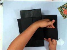 Scrapbook Mini Album: Vertical Paper Bag Album  Part 1