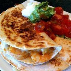 Shrimp Quesadillas - Recipes, Dinner Ideas, Healthy Recipes & Food Guide