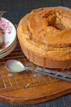 Glazed Pumpkin Pound Cake from @NevrEnoughThyme