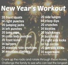 At home workout that will make you sweat and have some fun - get the family involved to show how it can be fun to do together this year