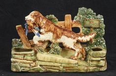 L297P VINTAGE MCCOY RARE NO HUNTING PLANTER SPANIEL BIRD DOG 1946 DUCK