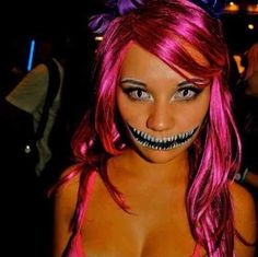 It'd be cool to do makeup like this for Halloween. But let me just say I love the hair