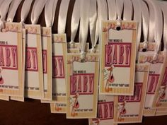 Dont say baby game.  #babyshower #party