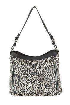 Grace Adele Handbag ~ Giselle Ocelot $80 ~ Zippered hobo with detachable shoulder strap.  Great bag for concealed weapons.