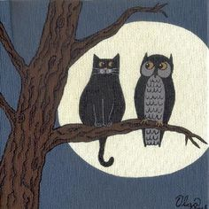 """""""whoooo are you?"""" - by S. Olga Linville from Gallery"""
