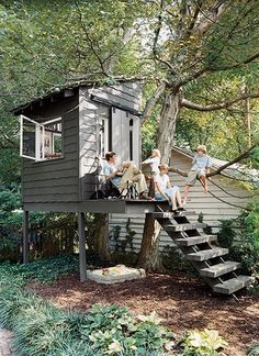 diy treehouse / playhouse plans.