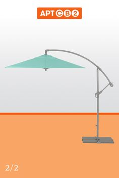 The perfect umbrella--and that aqua color!!! See more from the #APTCB2 Collection at www.cb2.com/APTCB2 #umbrella