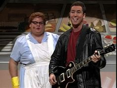 Lunch Lady Land!  Adam Sandler with Chris Farley as the Lunch Lady, SNL