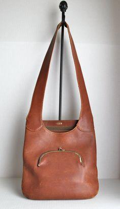 vintage 60s iconic Bonnie Cashin leather shopper by RedTuTuRetro, $250.00