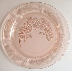 Cabbage Rose Depression Plate