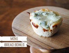 mini spinach dip bread bowls