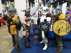 So my buddy was a Skyrim Storm Trooper for Boston Comic Con