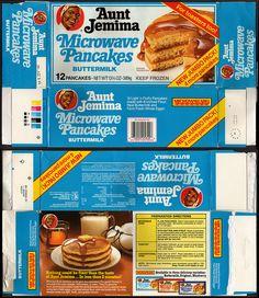 Quaker - Aunt Jemima - Microwave Pancakes Buttermilk box - 1980's by JasonLiebig, via Flickr