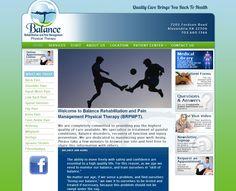 This modern design uses bright colors and gradients to liven the composition. The main action photo slideshow gives the site a dynamic feel without wasting bandwidth. The links in the sidebar give the patient a quick way to gather information about their ailment without making the layout seem cluttered or busy.