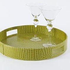 glorious green, decor, trays, bar tray, lighter green, green tray, green interior, everglad, lime green