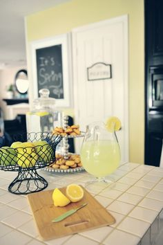 Interior designer, Amanda C. found this small wire basket from HomeGoods and used it in the kitchen for holding fresh fruit. Simple but impactful.