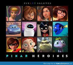 Pixar Heroines