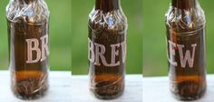 Personalize beer bottles with this easy glass etching tutorial!