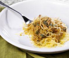 pumpkin cream sauce over spaghetti squash #vegan