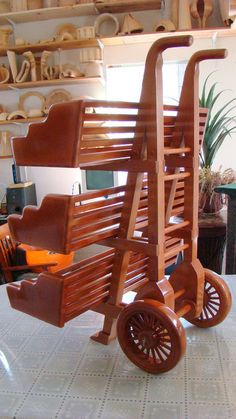 Hand cart for a bookcase