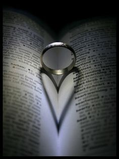 books, cardiology, heart, open book, shadow, bible verses, wedding rings, gods will, photography