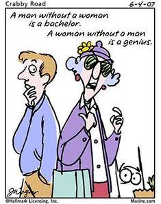 Maxine on men!